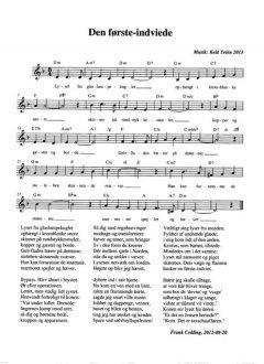 Melodi og becifring i D-mol